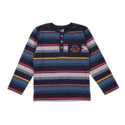 T-shirt henley rayé