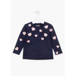 Prévente - Basic - T-shirt marine clair avec coeur