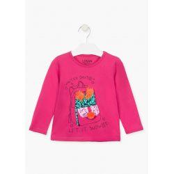 Prévente - folk Swag - T-shirt fuschia foncé avec tuque en paillettes