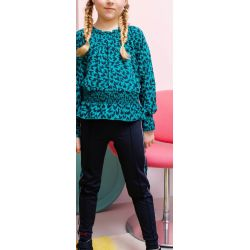 B.Fantastic - Pantalon bleu oxford avec bandes latérales