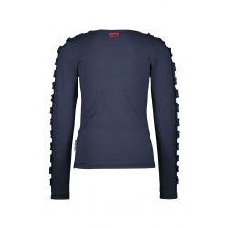 B.Fantastic - T-shirt fleu oxford avec frisons sur les manches