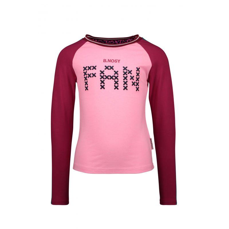 B.Fantastic - T-shirt sorbet avec manches raglan