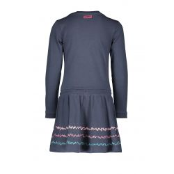Prévente - B.Fantastic - Robe bleu oxford à jupe scintillante