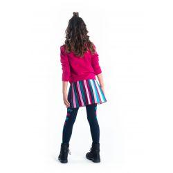B.Fantastic - Jupe en satin plissé à rayures verticales