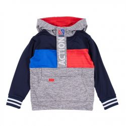 Sweatshirt athletique marine et gris