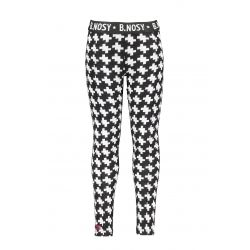 B.Smart - Pantalon à motifs jacquard noir et blanc
