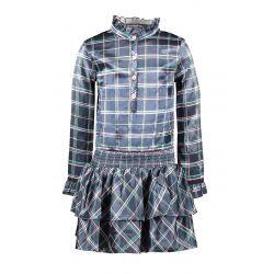B.Flawless - Robe-blouse en voile à carreaux