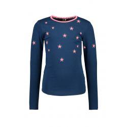 Prévente - B.Out There - T-shirt bleu espace avec étoiles brodées