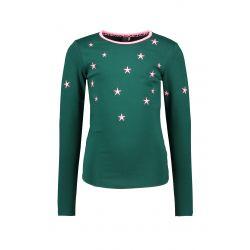 Prévente - B.Out There - T-shirt vert botanique avec étoiles brodées