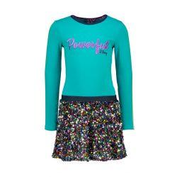 Prévente - B.Active - Robe fanfare avec jupe en paillettes multicolores