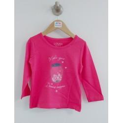 Basic - T-shirt fuschia