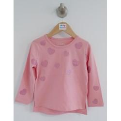 Basic - T-shirt vieux rose...