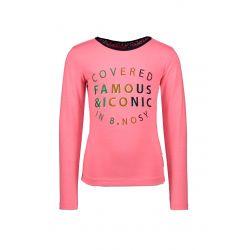 Prévente - B.Covered - T-shirt rose festival avec dentelle au dos