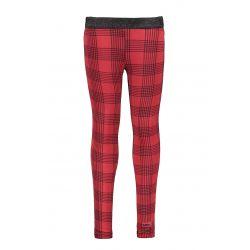 Prévente - B.Trendy - Pantalon à carreaux rouge et noir