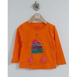 Folk Swag - T-shirt orange avec tuque en paillettes