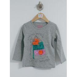 Folk Swag - T-shirt charcoal avec tuque en paillettes