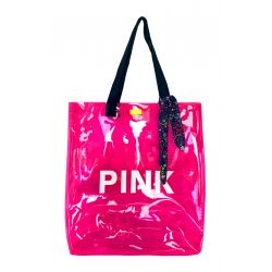 B.Free - Sac transparent fluo rose