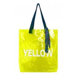 B.Free - Sac transparent jaune fluo
