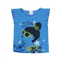 Prévente - Garden Party - T-shirt  bleu baltique