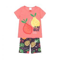 Prévente - Summer Fruits - Ens. T-shirt corail et legging court