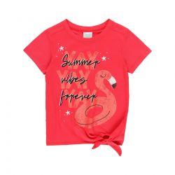 Prévente - Preppy by the Sea - T-shirt rouge avec noeud à la taille