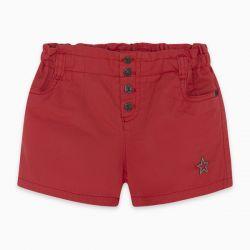 Prévente - Basic - Short en twill rouge
