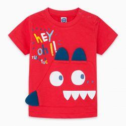 Prévente - Draw A Rex - T-shirt rouge