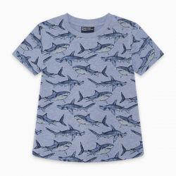 Prévente - See Breeze - T-shirt bleu imprimé requins