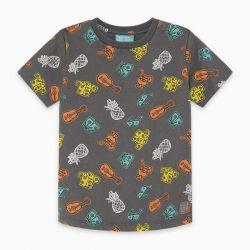 Prévente - Just Surf - T-shirt charcoal imprimé