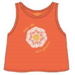 Prévente - Colorful Day - Camisole orange avec fleur