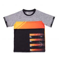 Prévente - Viser Haut - T-shirt athlétique noir et gris