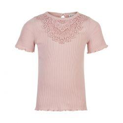 Prévente - Minymo - T-shirt en jersey côtelé rose smoke