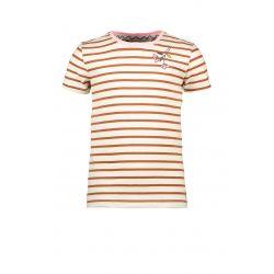Prévente - Powert of the Flower - T-shirt rayé caramel