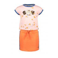 Prévente - Sunkissed - Robe avec corsage orange et jupe rose blush