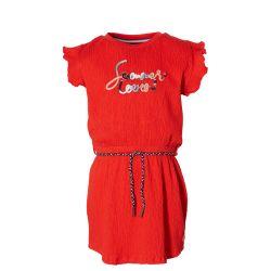 Robe fiery red avec ceinture