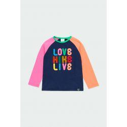 """Prévente - Montain Colors - T-shirt marine """"Love Hike Live"""""""