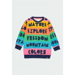 Prévente - Montain Colors - Robe à rayures multicolores