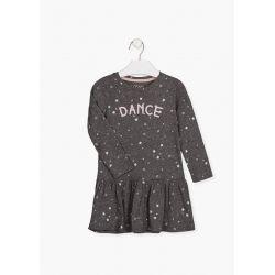 Prévente - Dance - Robe gris foncé imprimée