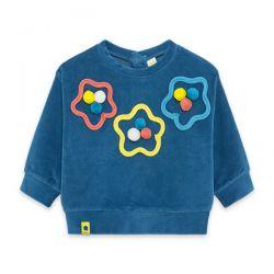 Prévente - Color Hikers - Sweatshirt en velours bleu