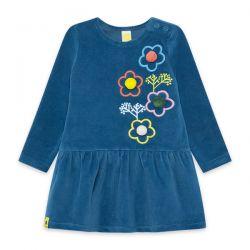 Prévente - Color Hikers - Robe en velours bleue