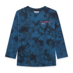 Prévente - Northern Whales - T-shirt bleu tie-dye