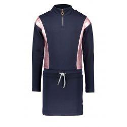 Prévente - B.Sporty - Robe en molleton ink blue et blocs de couleur